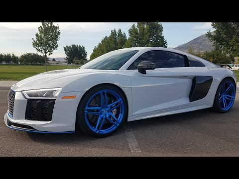 2017 SUPERCHARGED AUDI R8 V10+ GOES RACING AT CASH DAYS!!!!!!!!