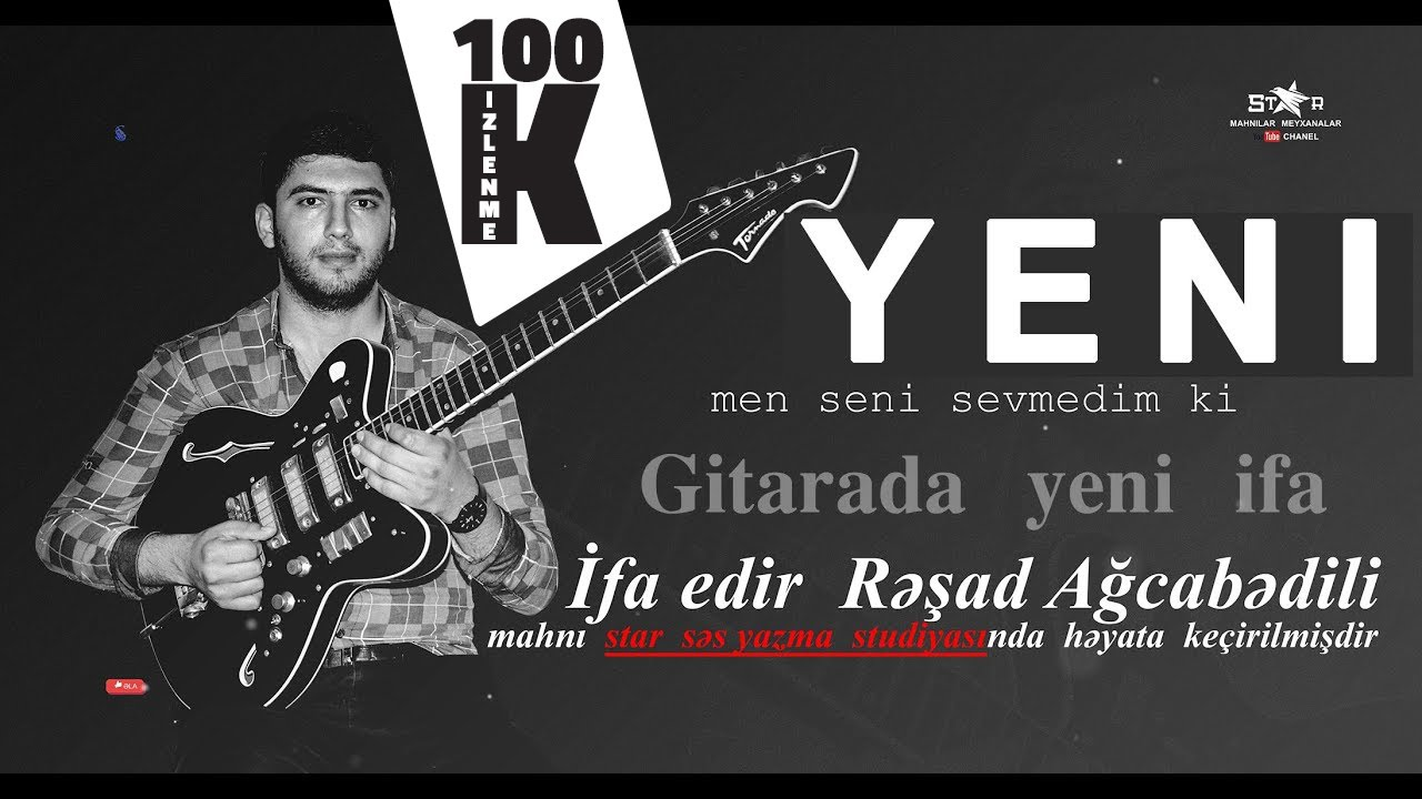super hezin gitara ifasi YENİ / Rəşad Ağcabədili / resad gitara yeni ifası / #gitara music / #музыка