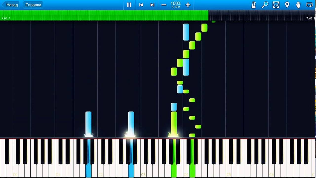 Beethoven - 7th Symphony - 2nd movement  Piano (Synthesia)