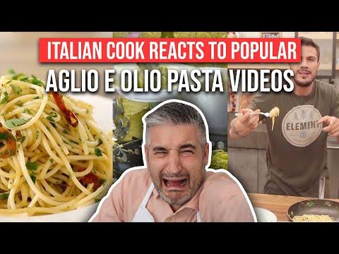 Italian Chef Reacts to Most Popular SPAGHETTI AGLIO E OLIO Videos