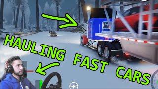 HAULING FAST CARS TO DRAG STRIP! GTA 5 Wheel & Shifter Real Life Mod Gameplay