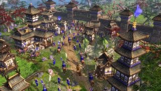 Age of Empires III Multiplayer Gameplay Japan vs France (HD) 55 treaty
