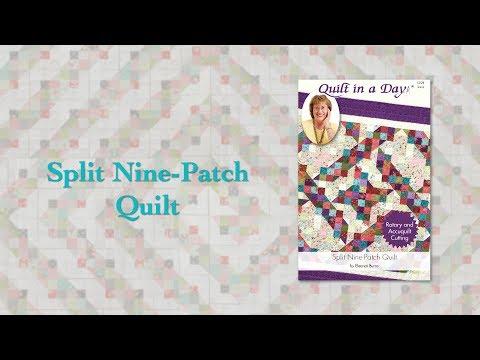 """Block Party December """"Split Nine-Patch Quilt"""""""