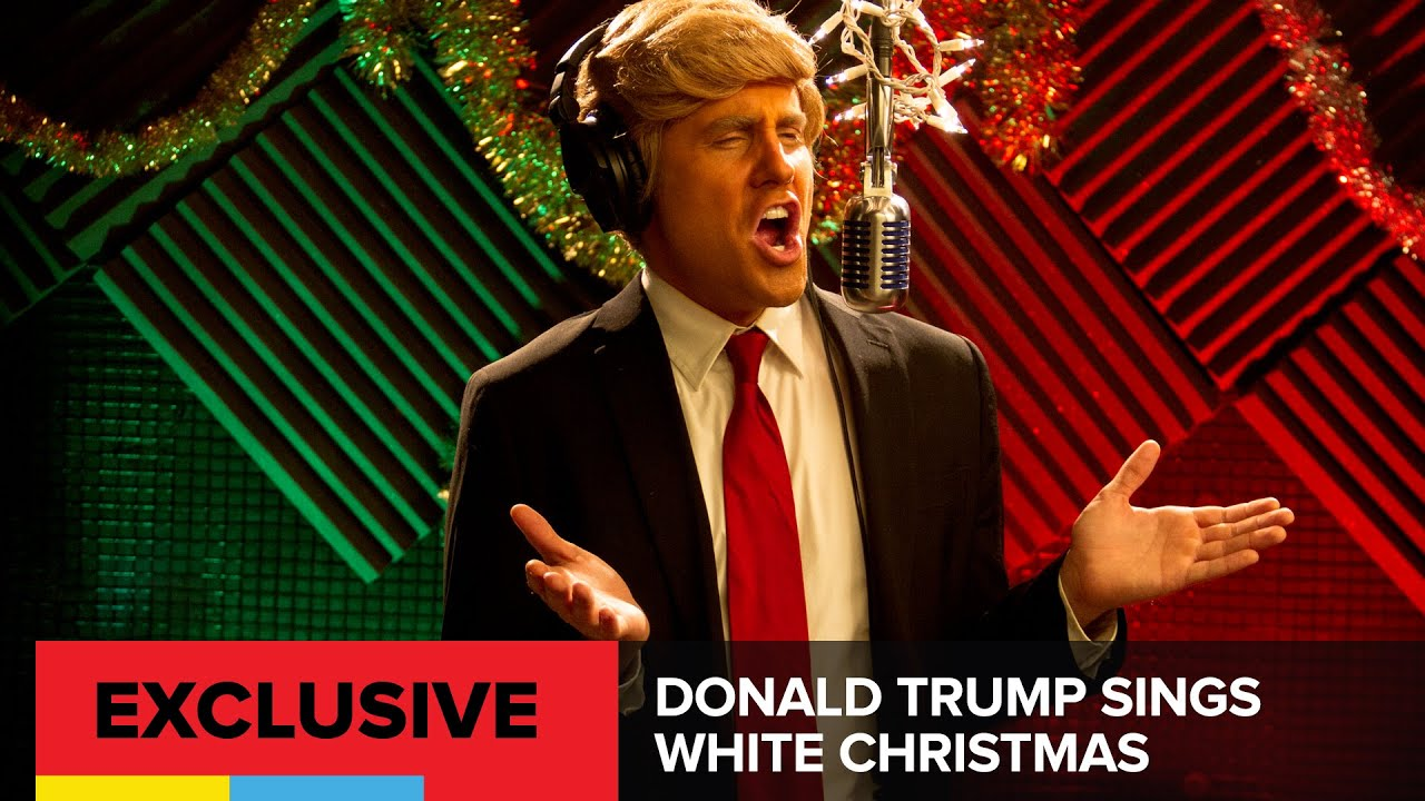 donald trump sings white christmas youtube