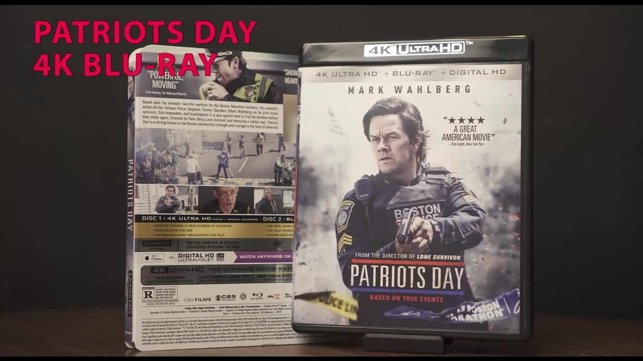 Patriot's Day 4K UHD Blu-Ray Unboxing DTS-X Audio/ Video Review