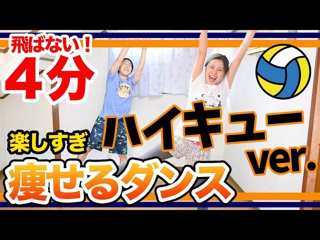 【楽しい4分】【飛ばない】ハイキューの主題歌「ヒカリアレ」で痩せるダンスを思いっきり踊ろぉぉお!