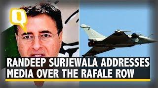 Congress Spokesperson Randeep Surjewala Addresses the Media Over the Rafale Row