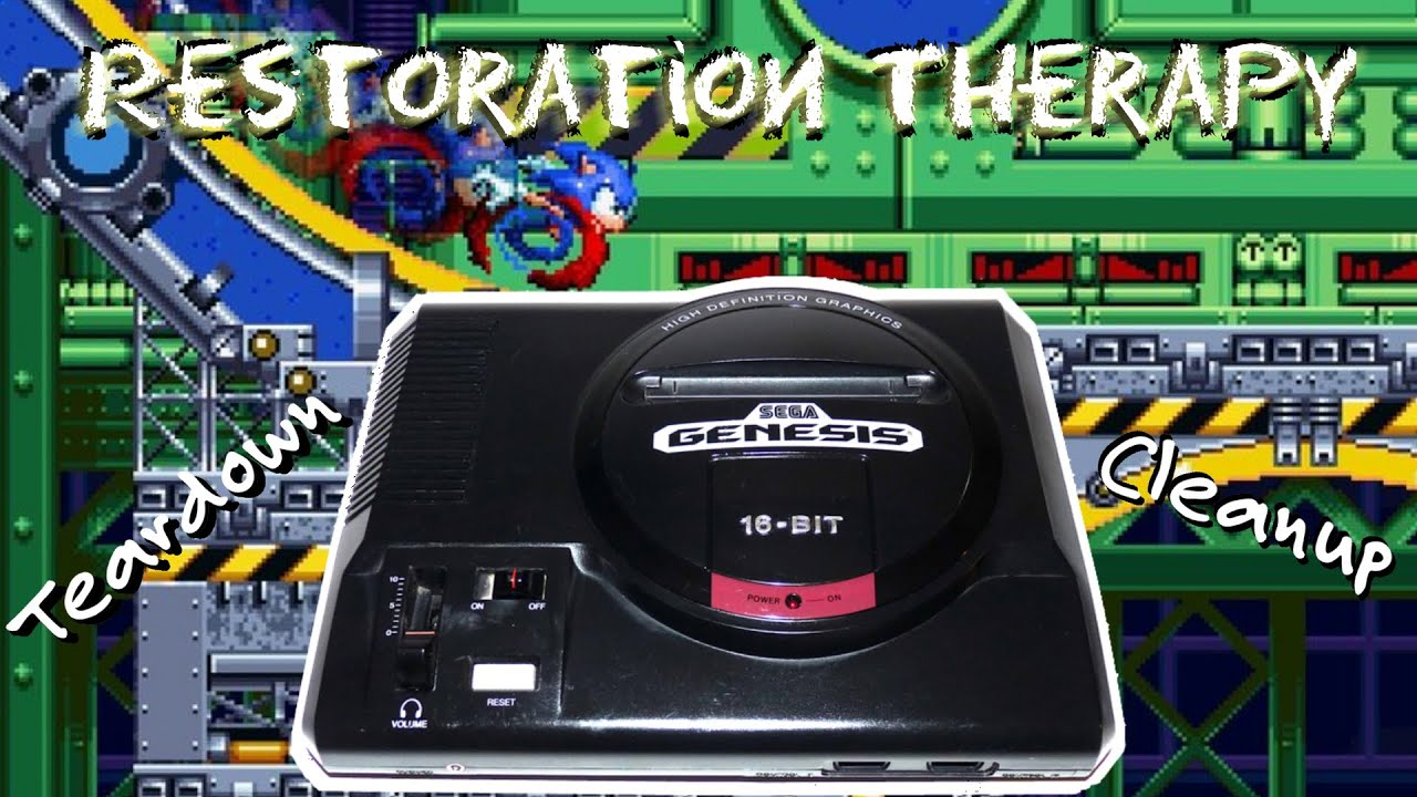 Sega Genesis Model 1 - Teardown, Cleanup, Restore