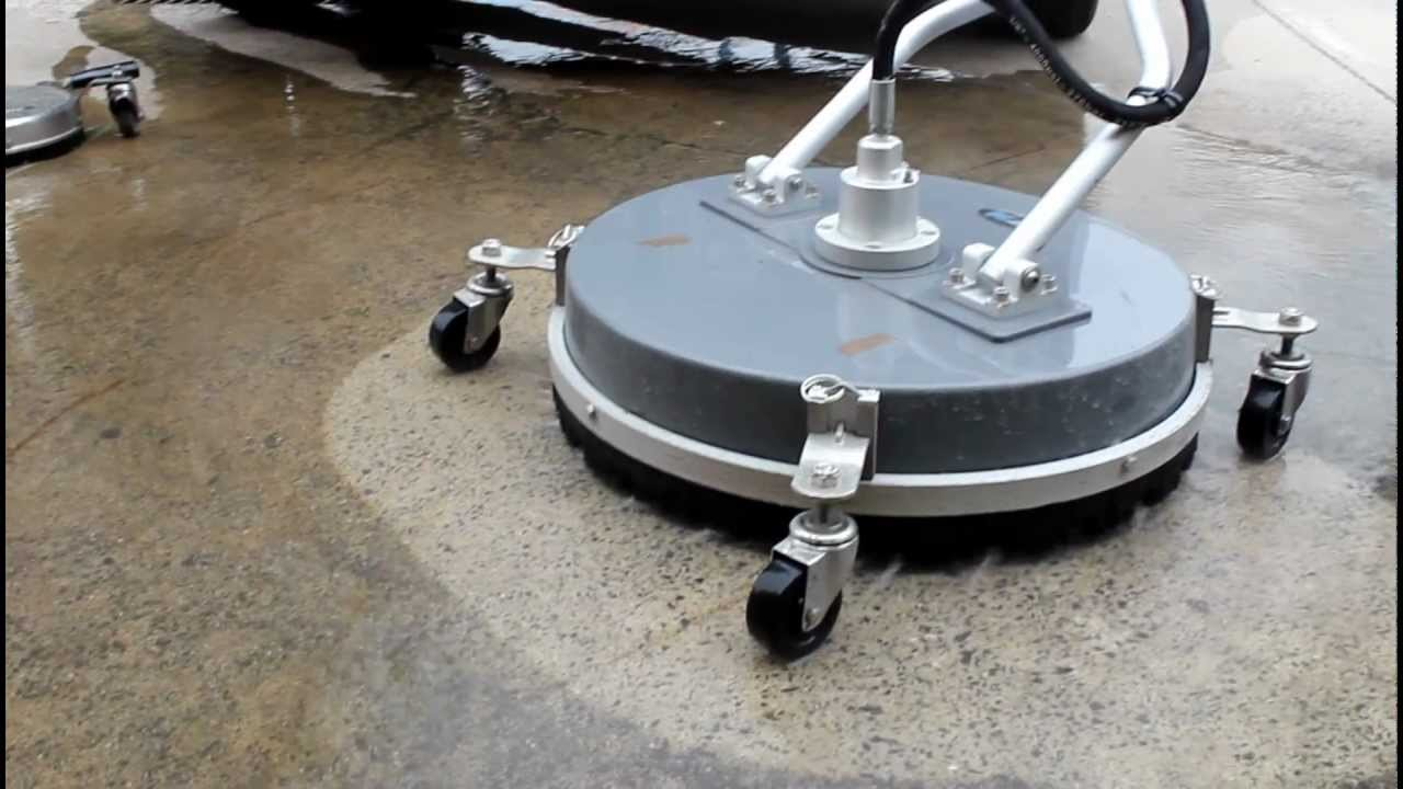 High pressure cleaning hard surface cleaning youtube for Industrial concrete floor cleaning machines