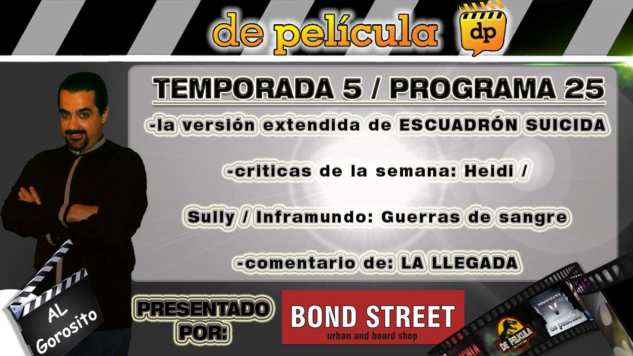 Ver DE PELICULA – programa de TV de cine – Escuadrón suicida / Inframundo 5 / Heidi / Sully en Español