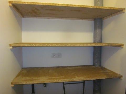 fabriquer des etageres a moindre cout sur placo partie 1