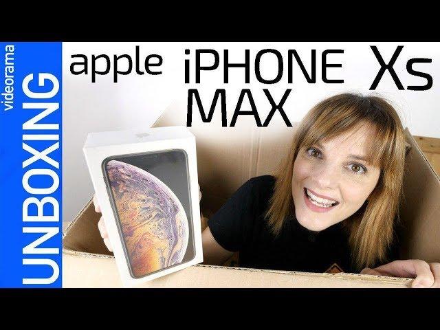 Apple iPhone Xs MAX unboxing -el iPhone más GRANDE de la historia-