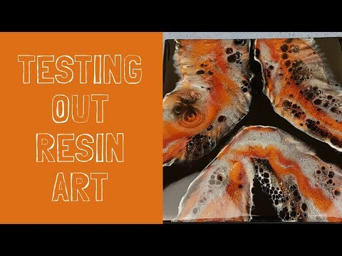 Testing resin art