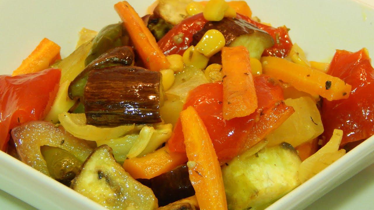 Verduras al horno con especias receta f cil y r pida youtube - Comida vegetariana facil de preparar ...