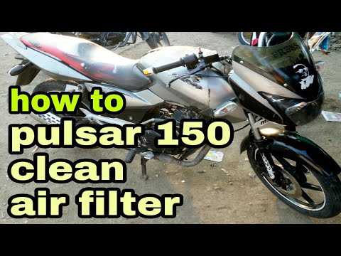 How to clean pulsar 150 air filter