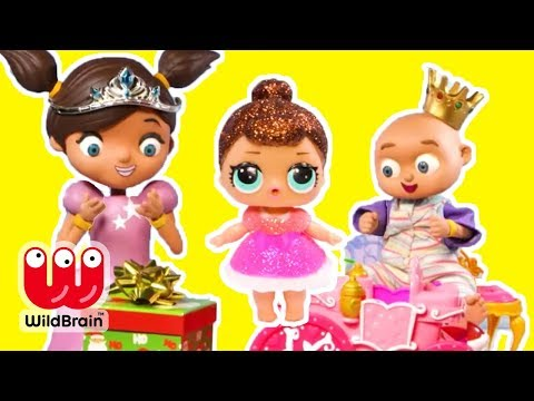 Princess Ellie Sparkles Play Doh Stop Motion with LOL Surprise! Fun Toys for Kids