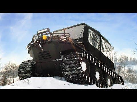 Новый канадский вездеход Avenger 8x8 STR Argo, тест в снегах!