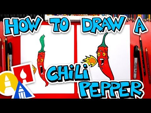 How To Draw A Funny Chili Pepper