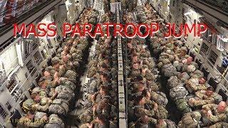 Paratrooper C-17 Mass Jump