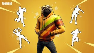FORTNITE DOGGO SKIN DOING DANCE EMOTES (including billy bounce, glitter, scenario and floss)