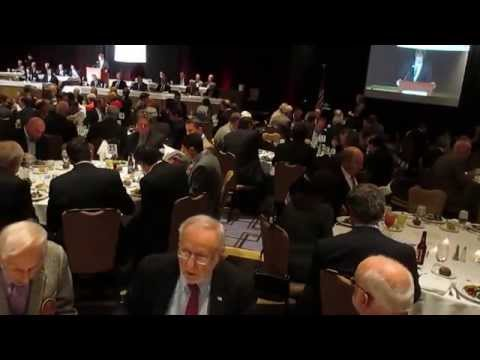 Introduction of 99 year old Mike Sandlock, Oldest former Major League Baseball player at 54th Annual Greenwich Old Timers Sports Banquet - Hyatt Regency - November 14, 2014.