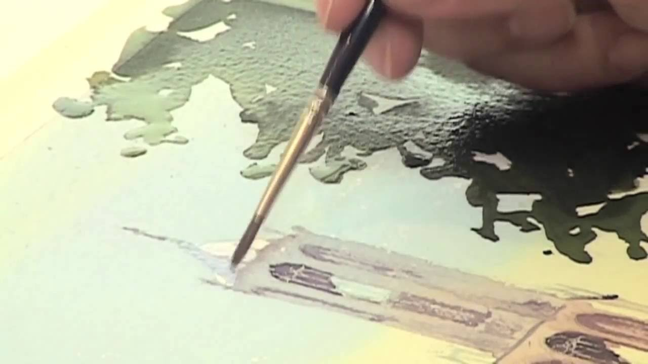 van gogh watercolour paint demonstration and inspiration by hannie
