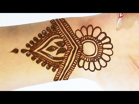 Beautiful Mehndi Design - Stylish Mehndi Trick for Hands 2019 - सरल तरीके से मेहँदी लगाना सीखे