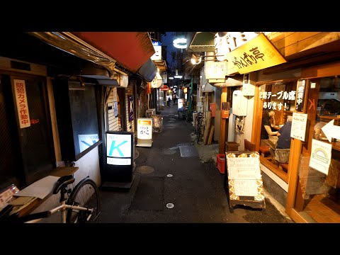 【4K】Night walk in