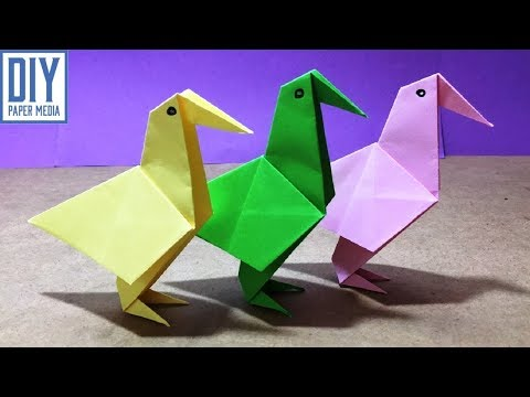 How to make an easy origami bird paper | Diy origami bird with paper | Bird paper crafts