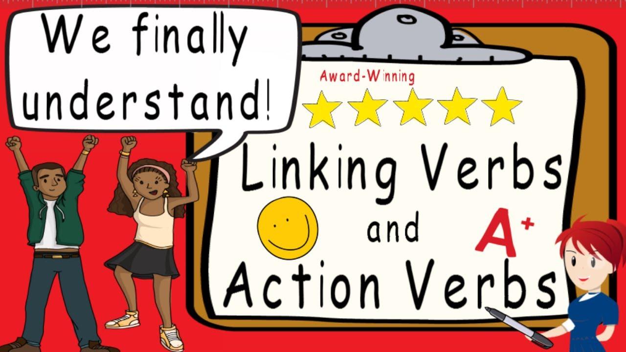 medium resolution of Linking Verbs and Action Verbs   Award Winning Linking Verbs Teachable  Video - YouTube
