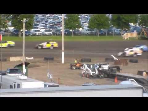 North Dakota State Fair IMCA Stock Car Heat Races (7/23/13)