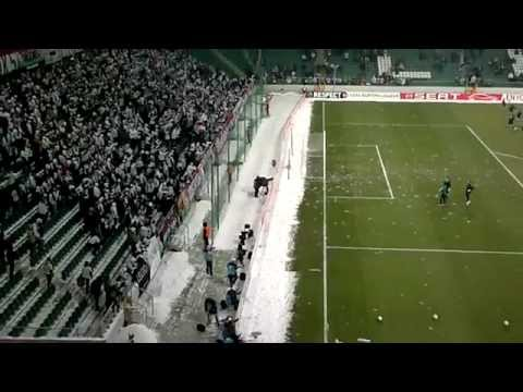 Unfair Snowball Fight at Soccer Game