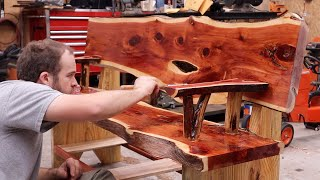 A One of a Kind Red Cedar Bench