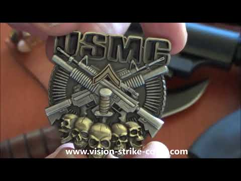 USMC E2 Private First Class Rank Coin from Vision-Strike-Coins.com!
