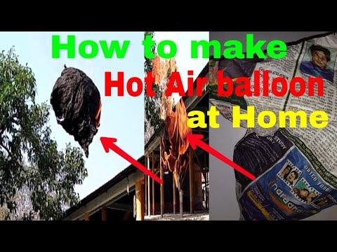 How to make hot air balloon at Home ,Mini hot air balloon