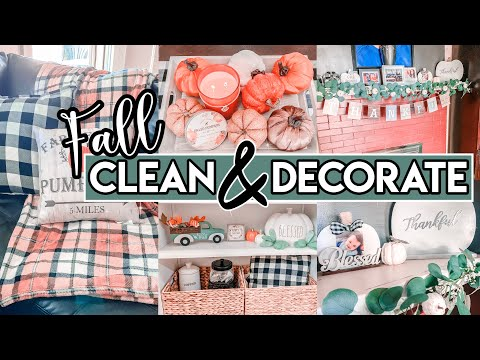 CLEAN AND DECORATE WITH ME | FALL HOUSE TOUR | FALL DECORATING IDEAS