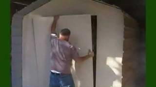 How to build a shed door.
