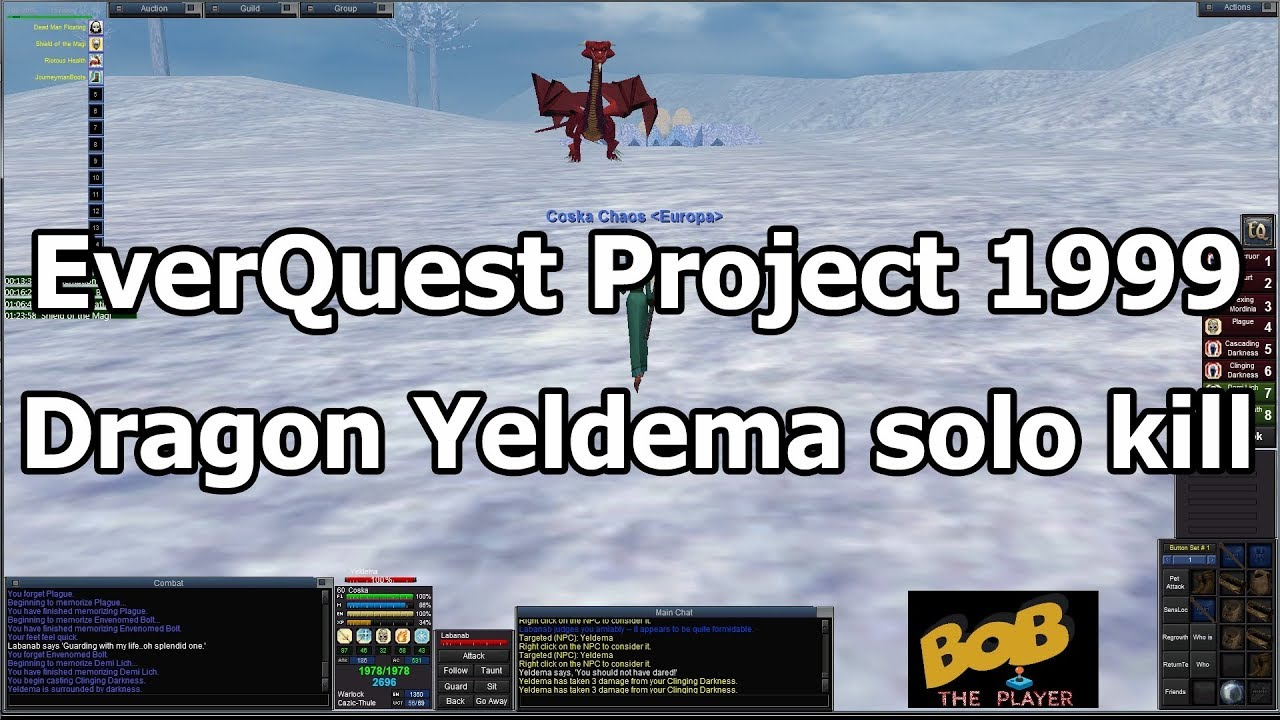 EverQuest Project 1999 #11 - Taking on a dragon in Western Wastes!