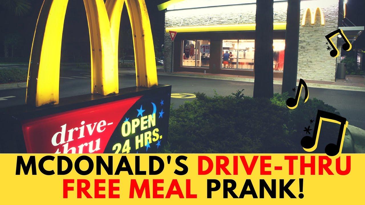 وجبة مجانية من ماكدونالدز MCDONALD'S DRIVE-THRU FREE MEAL PRANK