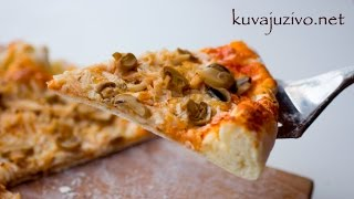 Jednostavan recept za picu - Homemade pizza recipe - Video