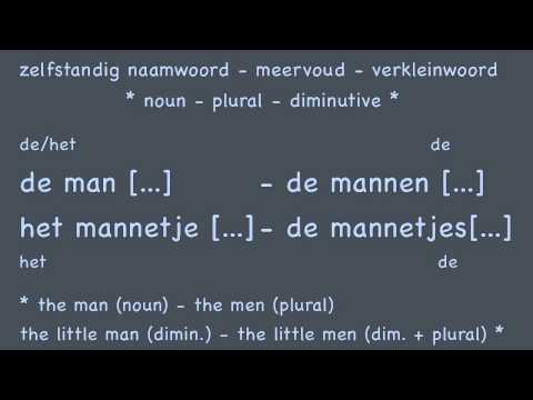 Nouns (3/3) diminutives / Learn Dutch course / Zelfst. naamw. verkleinwoorden Nederlands