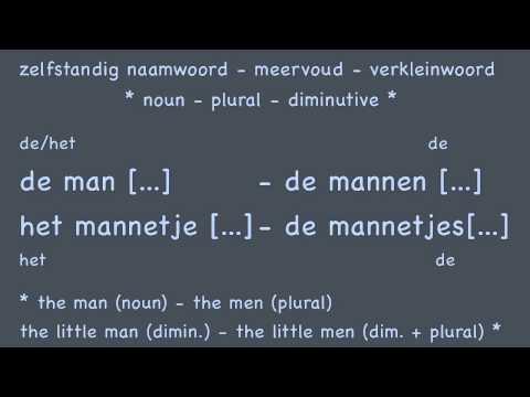 Nouns (3/3) diminutives / Learn Dutch course / Zelfst. naamw. verkleinwoorden Nederlands