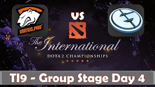 VP vs EG | The International 2019 | Dota 2 TI9 LIVE | Group Stage Day 4