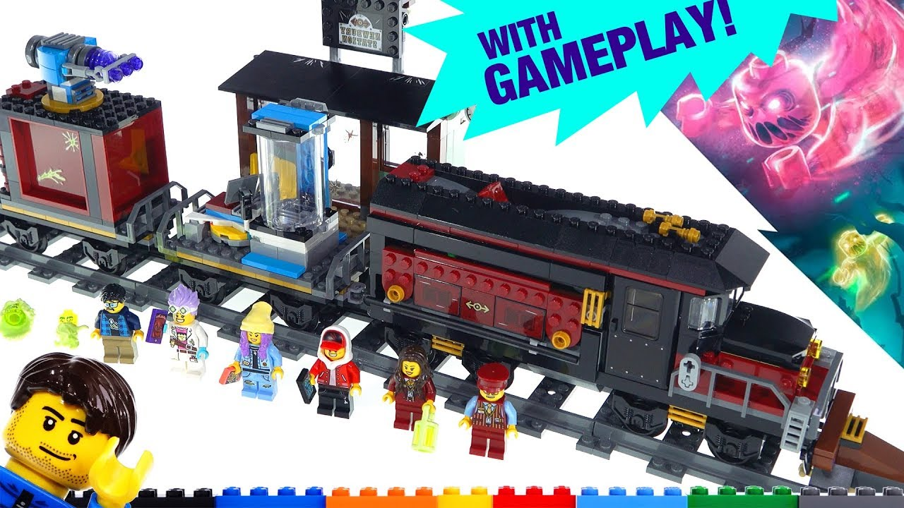 LEGO Hidden Side Ghost Train Express + AR App demo & review! 70424