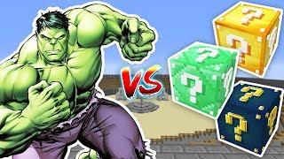 HULK VS ŞANS BLOKLARI - Minecraft