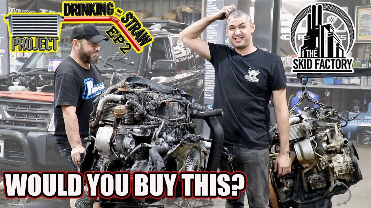 $1000 Fire Damaged Wrecker Engine Swap, The Poor man pays Twice! - Project Drinking Straw EP2