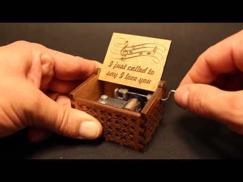 I Just Called To Say I Love You - Stevie Wonder - Music box by Invenio Crafts