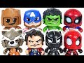 Thanos appeared with dinosaurs army! Marvel Mighty Muggs Hulk, Black Panther! Go! - DuDuPopTOY