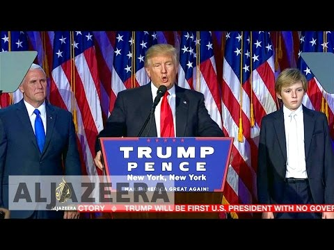 US election: Donald Trump vows to unite nation