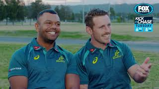 Rugby Kick and Chase - Bernard Foley and Kurtley Beale